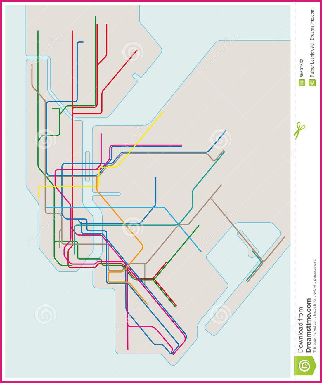 Map Of New York Subway Station