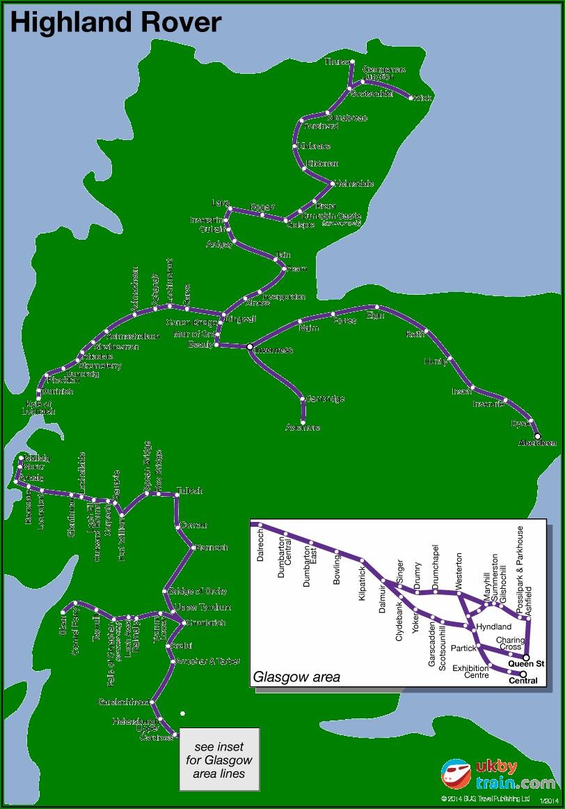 Map Of Scottish Highland Railways