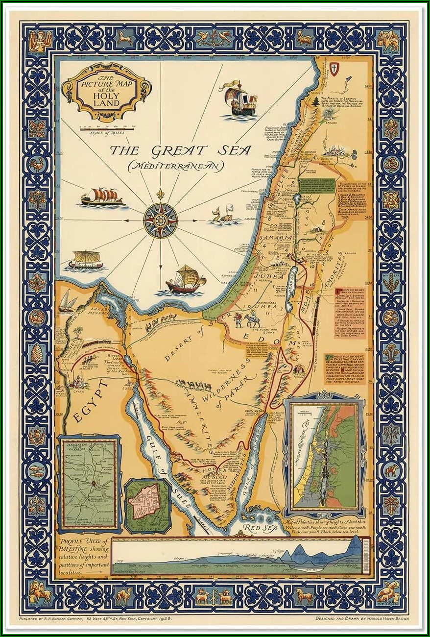 Map Of The Holy Land In Biblical Times