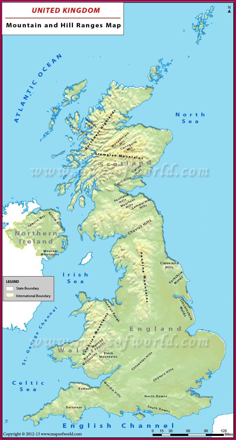 Map Of Uk Isles