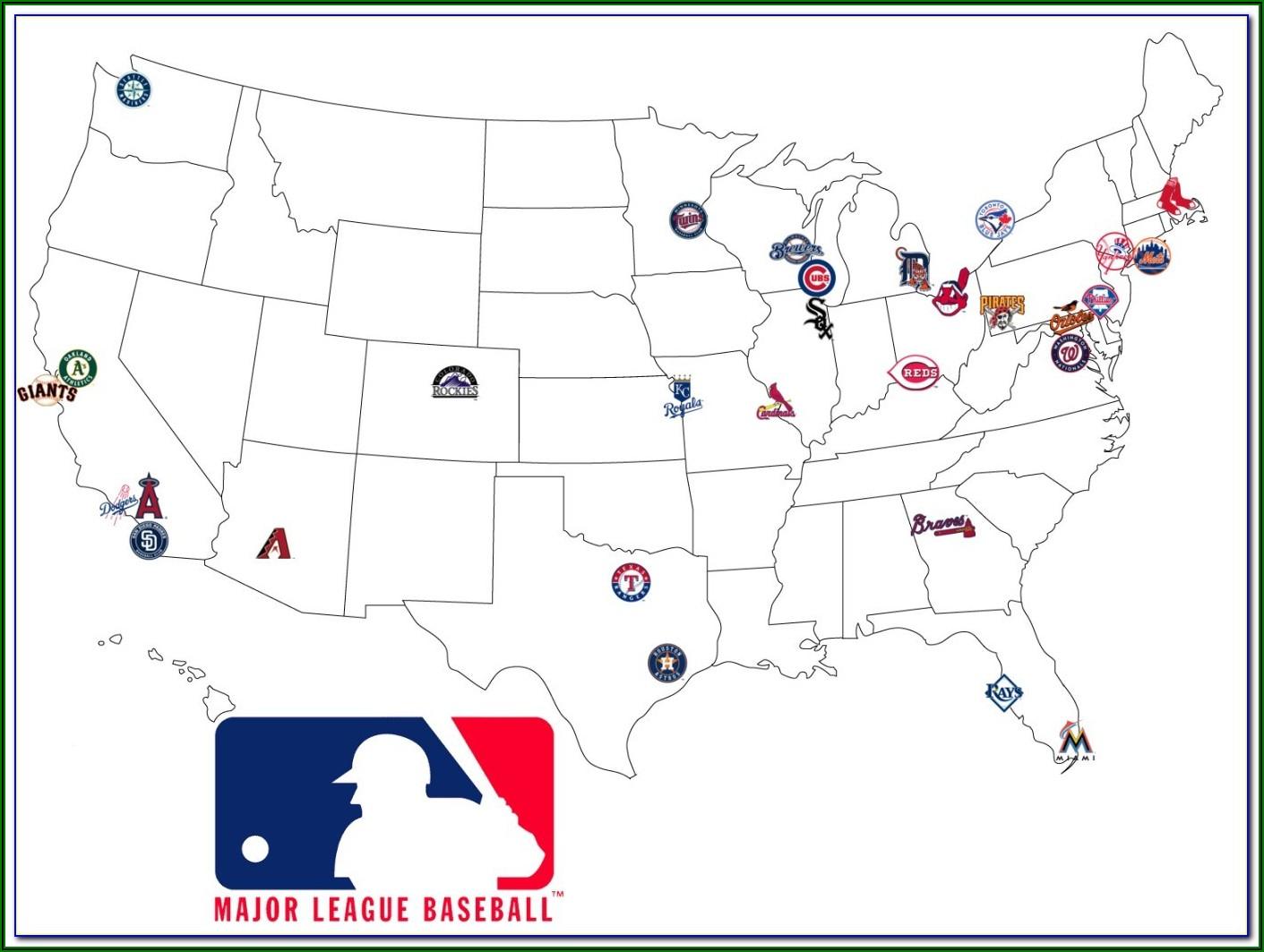 Map Of Us Baseball Stadiums