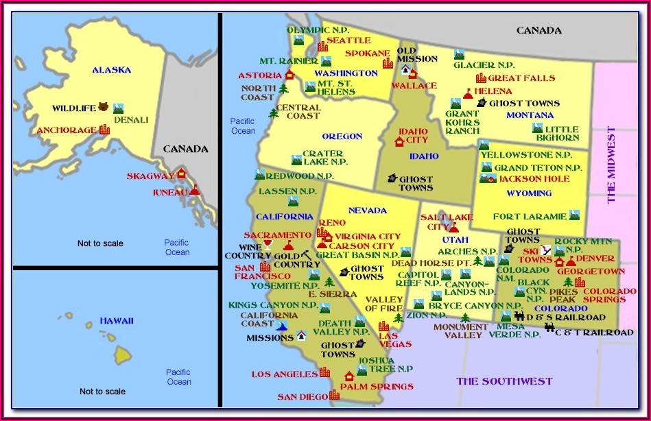 Map Of Usa With States Capitals And Cities