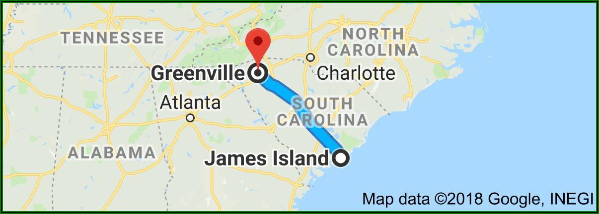 Map To Charleston Sc