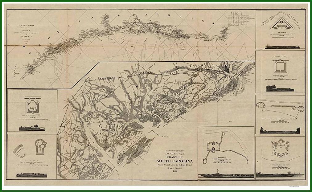 Map To Charleston South Carolina