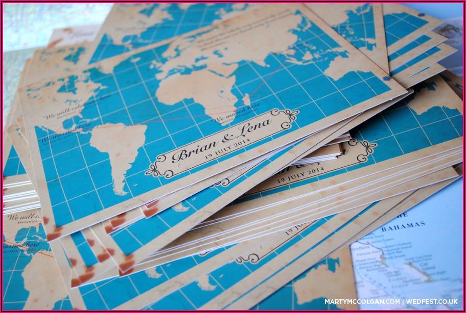 Map Wedding Invites