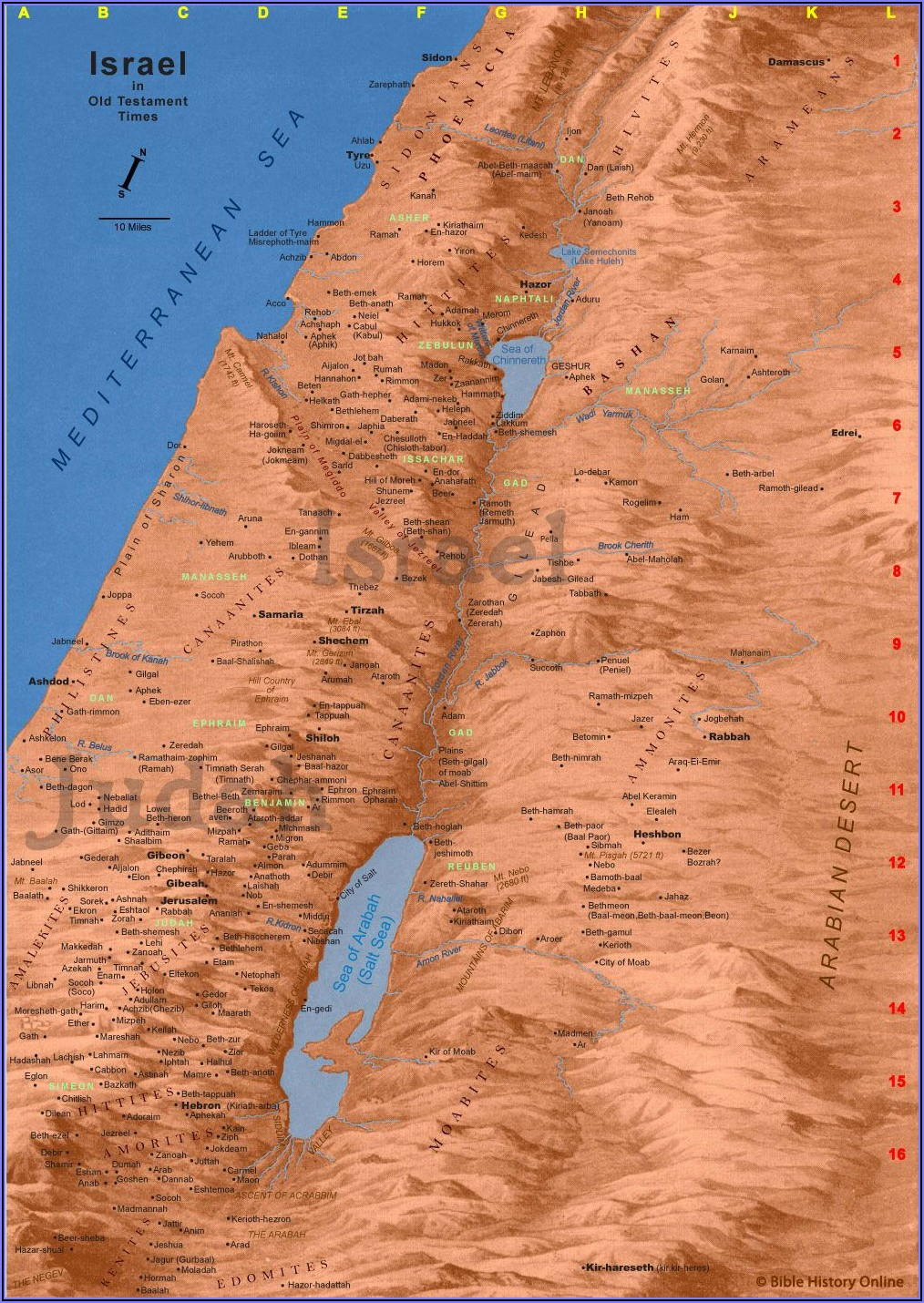 Maps Of Ancient Israel Old Testament