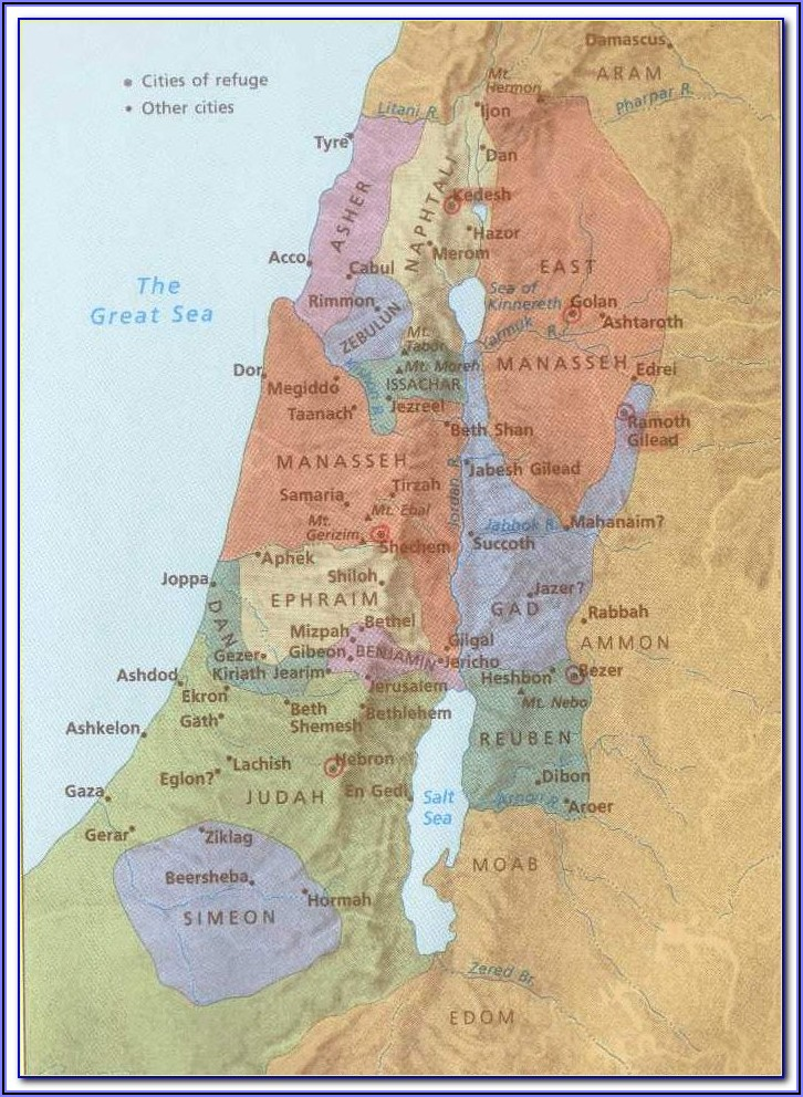 Maps Of Biblical Israel