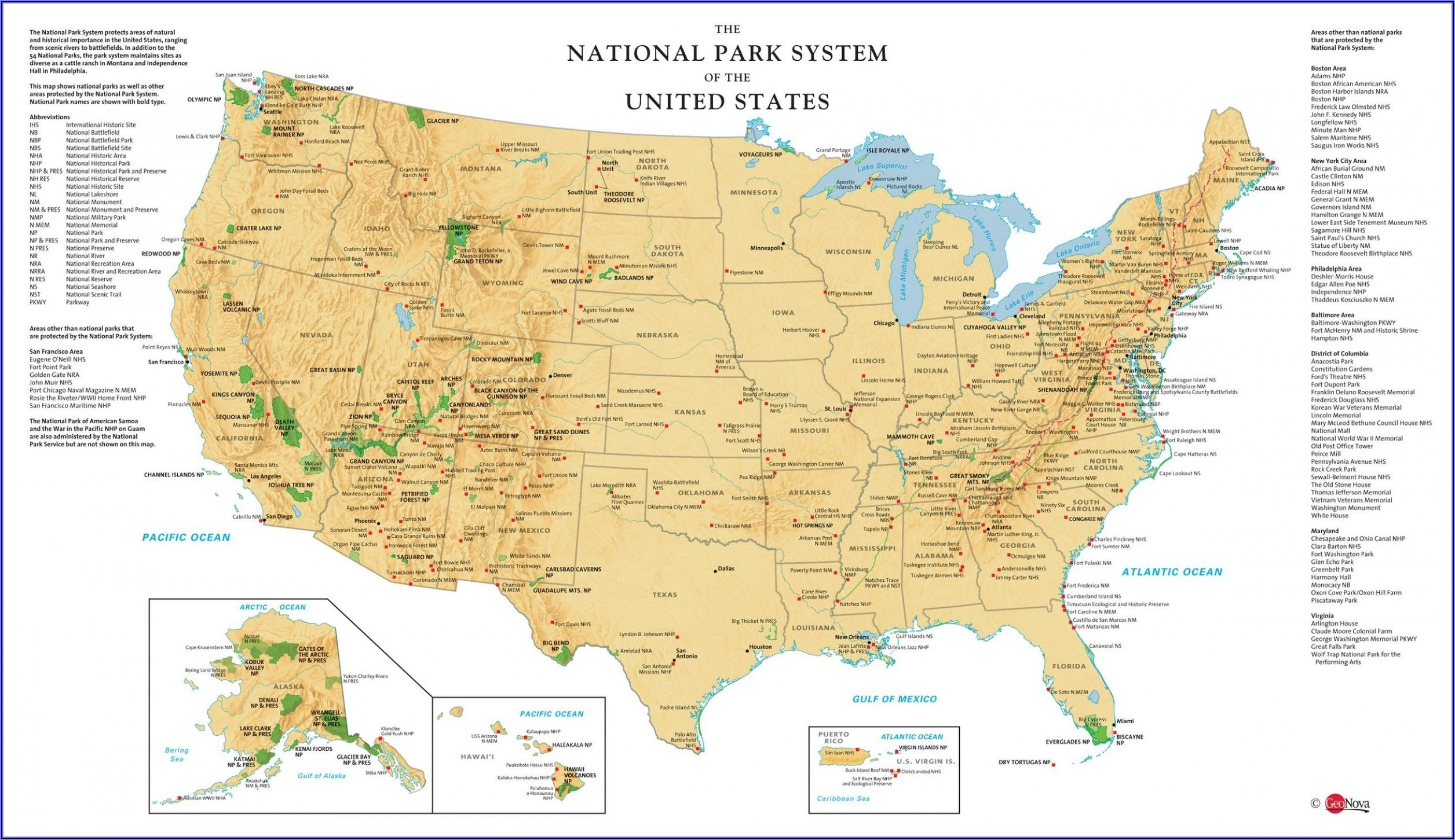 Maps Of National Parks In Us