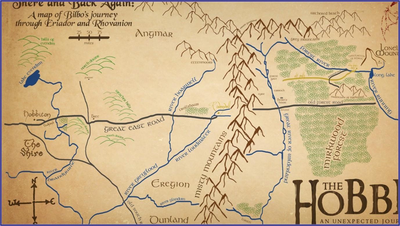 Maps Of The Hobbit