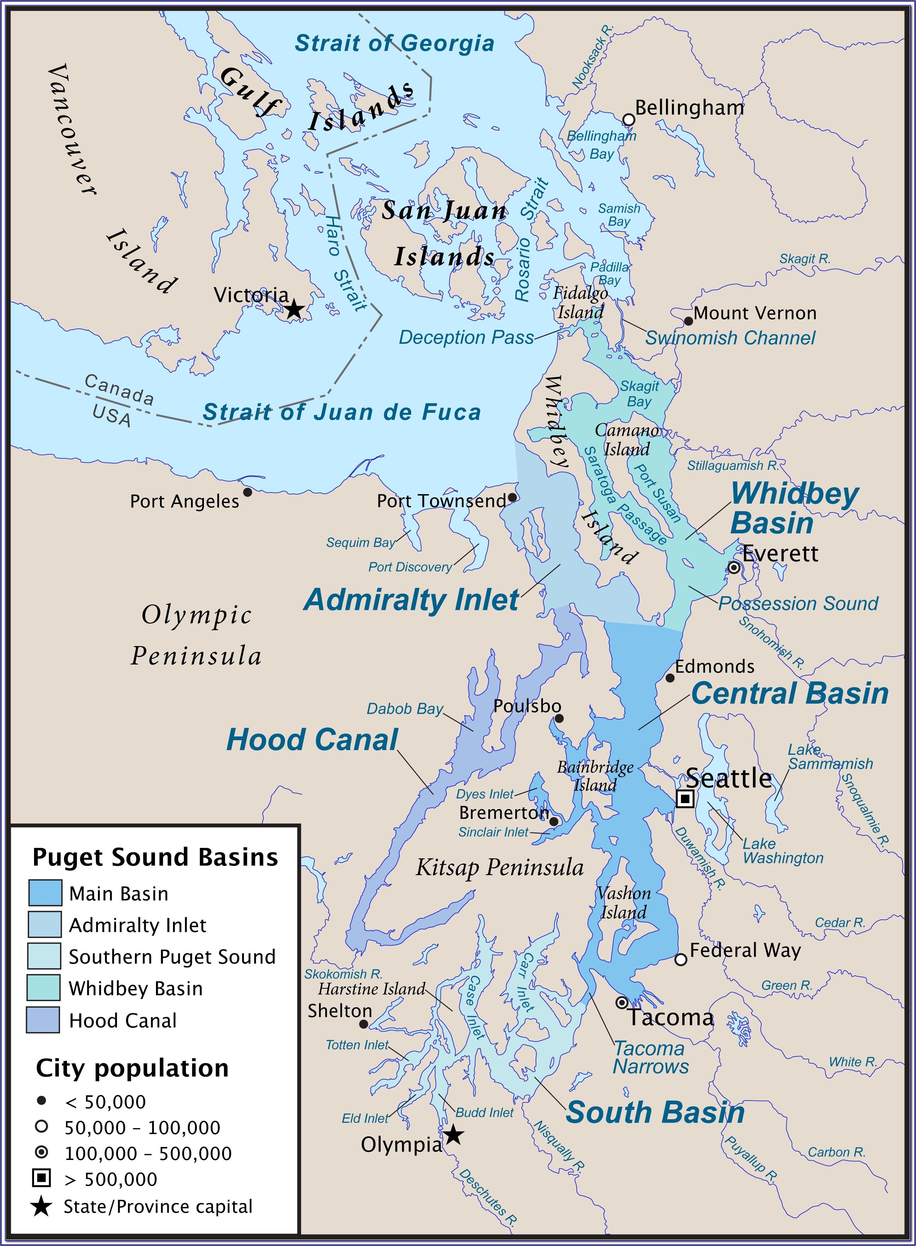 Marine Area 9 Puget Sound Map