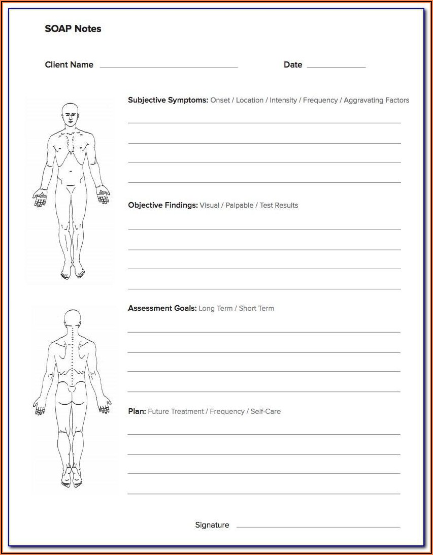 Massage Therapy Soap Notes Forms