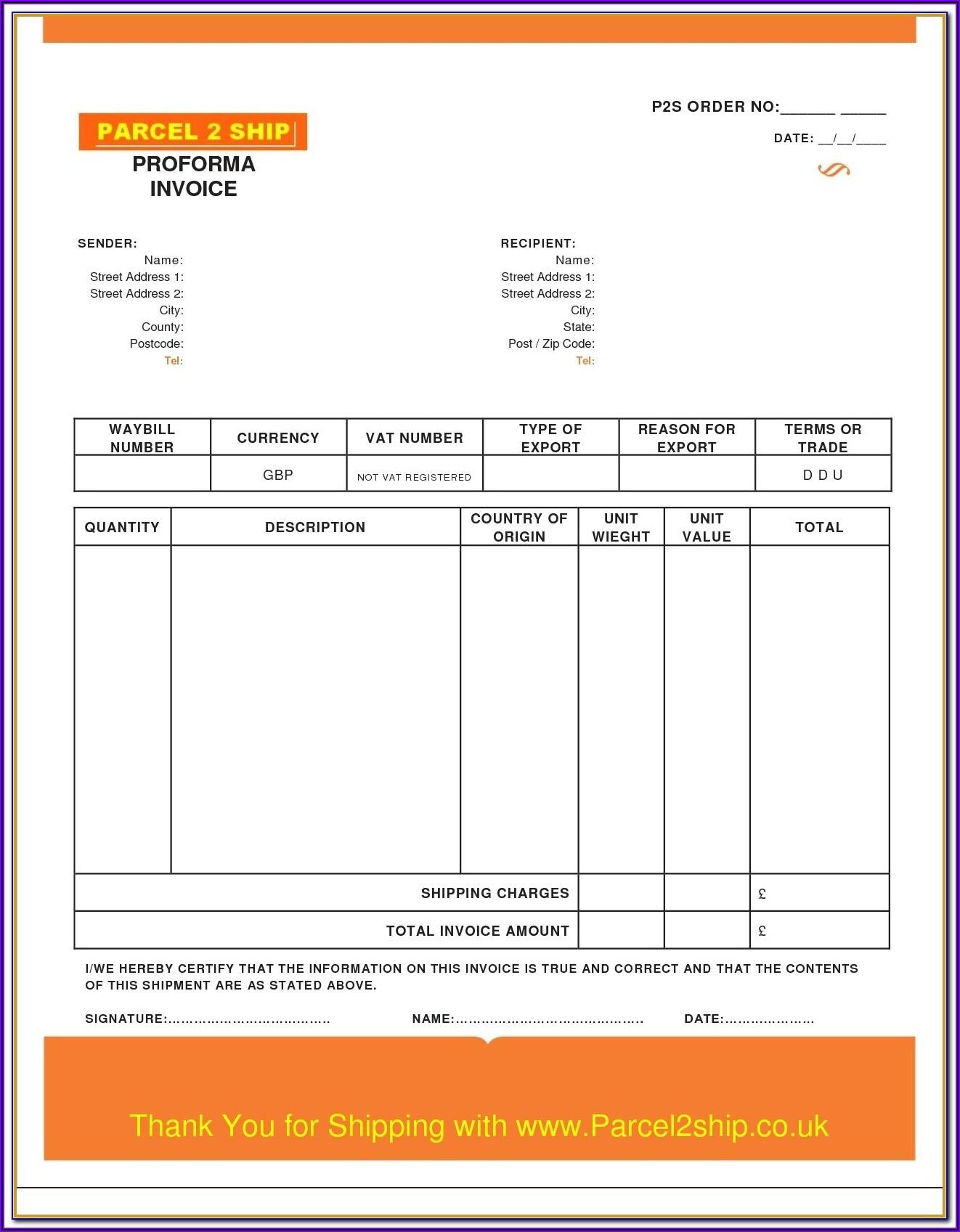 Mechanic Invoice Template Excel