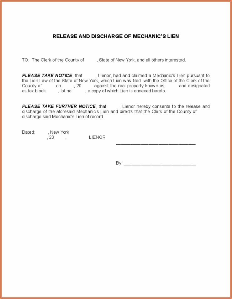 Mechanics Lien Form Free Download