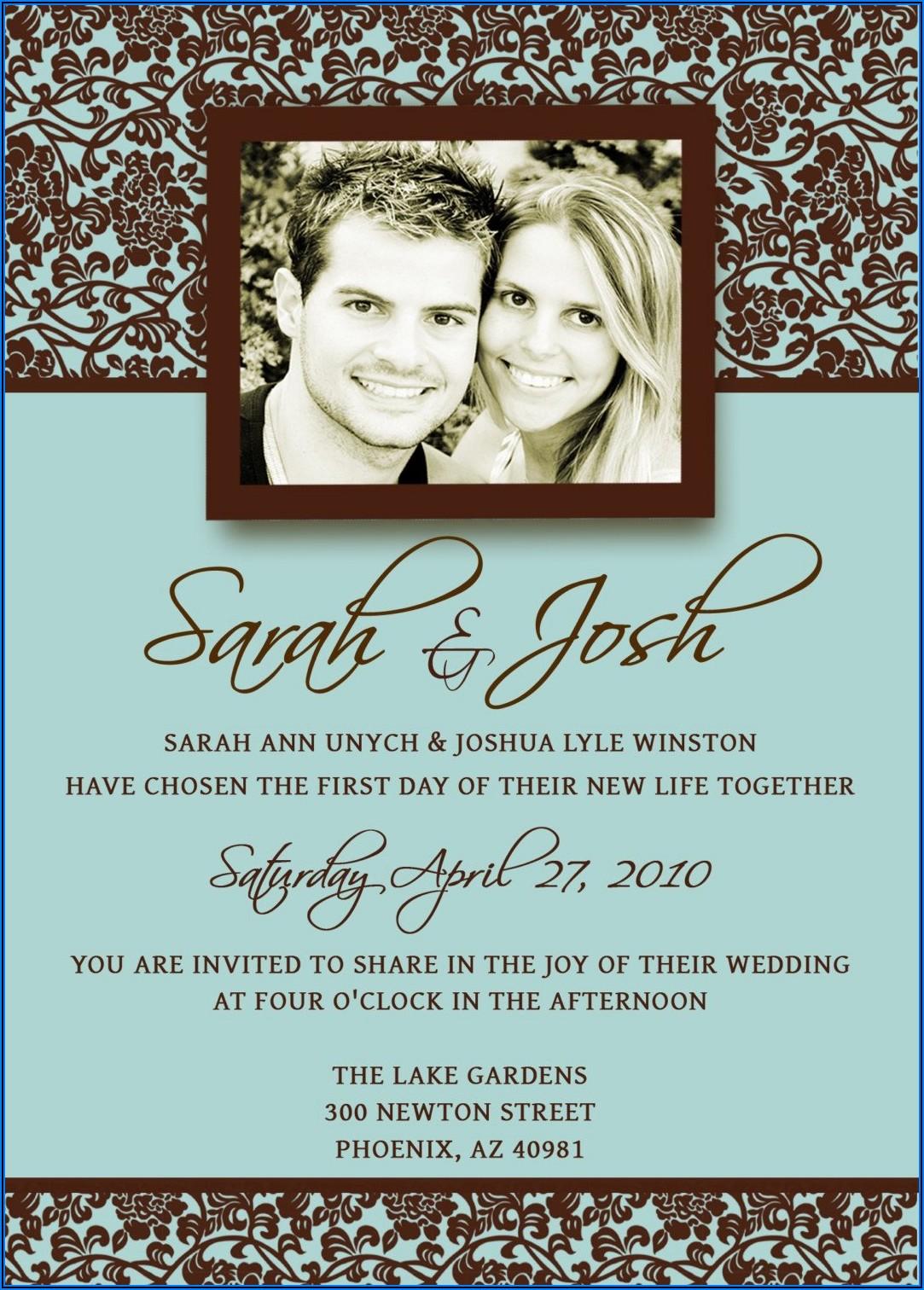 Michaels Wedding Invitations Templates
