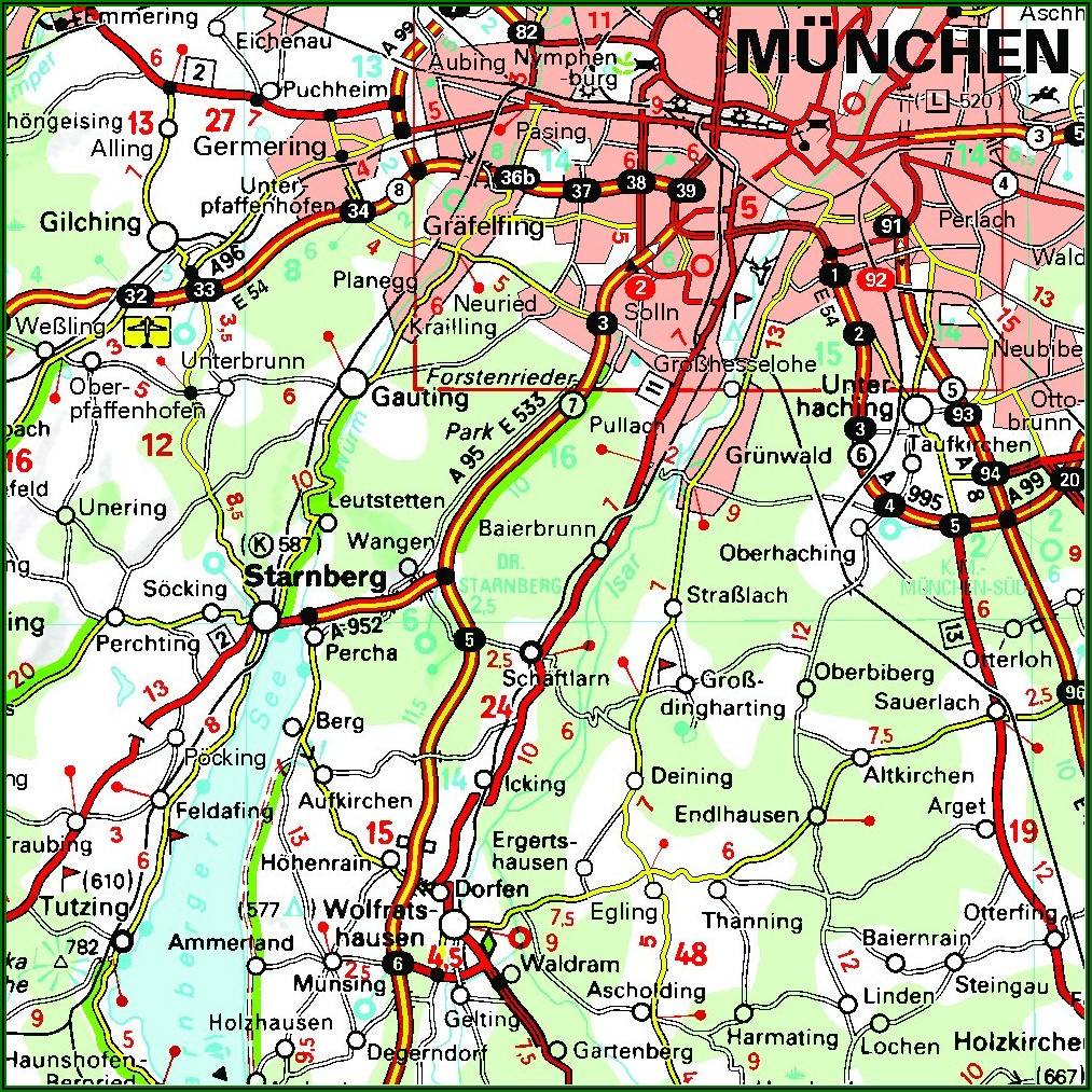 Michelin Maps Germany Bavaria