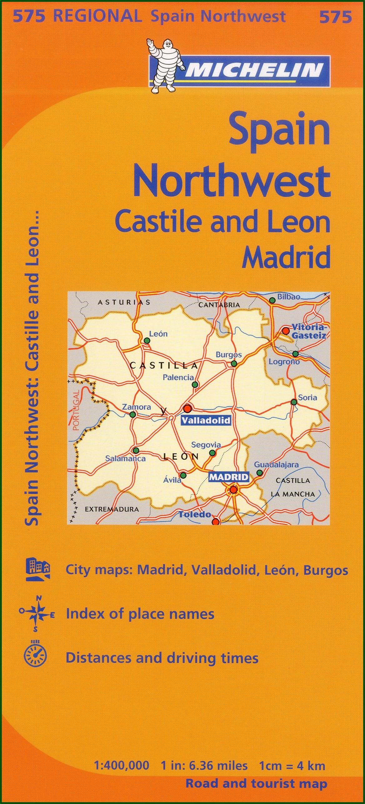 Michelin Regional Maps Spain