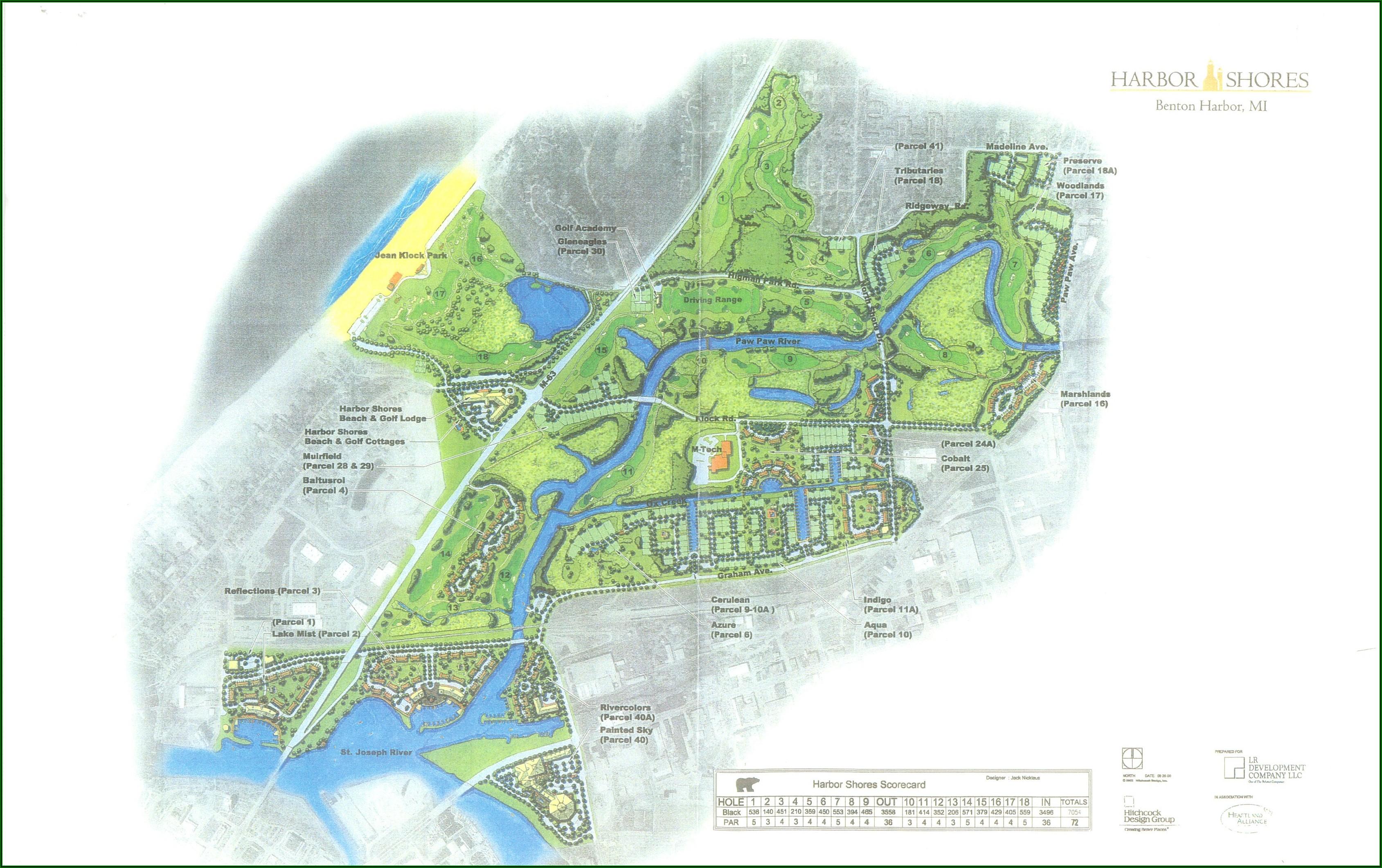 Michigan Golf Resorts Map