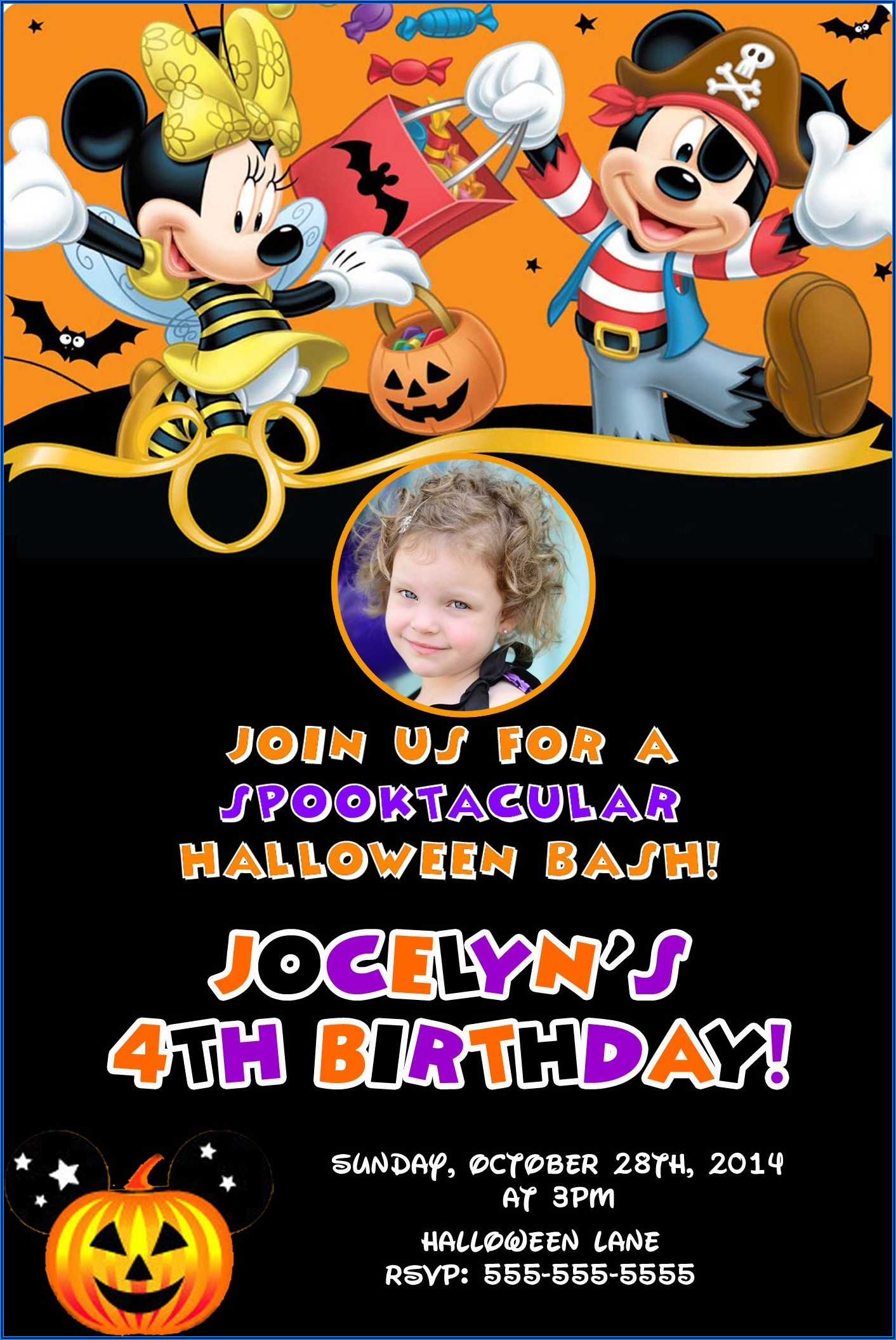 Mickey And Minnie Mouse Birthday Party Invitations