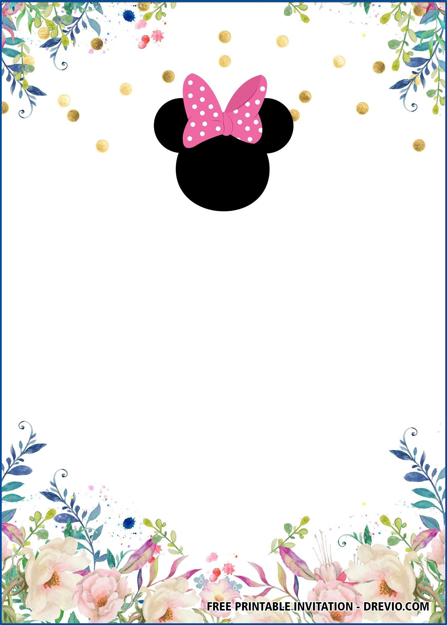 Mickey Minnie Mouse Birthday Invitations Template