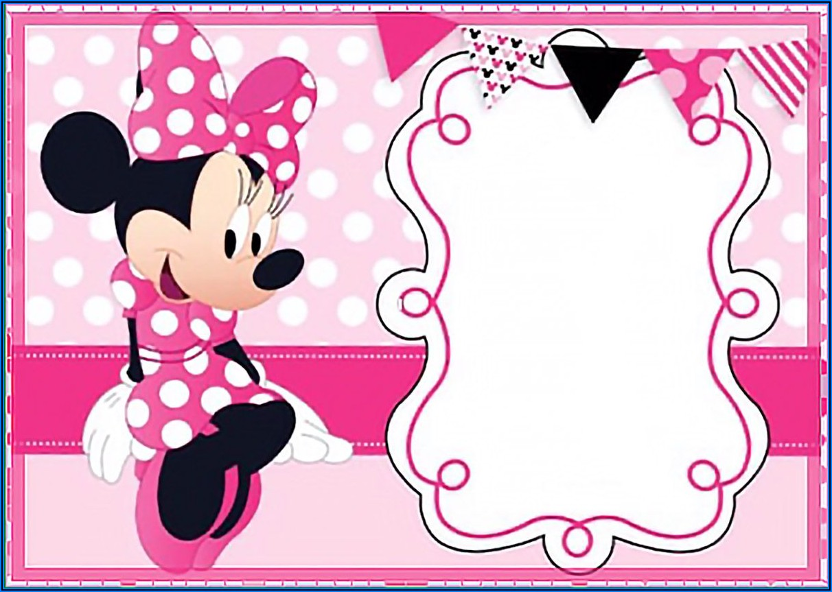 Minnie Mouse Birthday Invitation Free Template