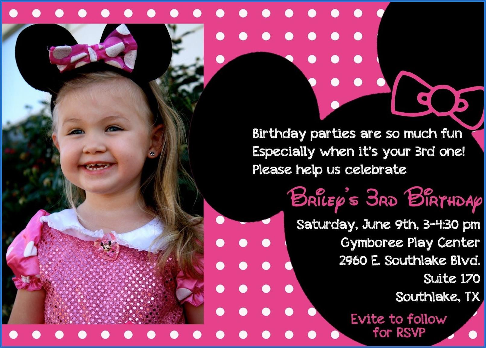 Minnie Mouse Birthday Invitations Evite
