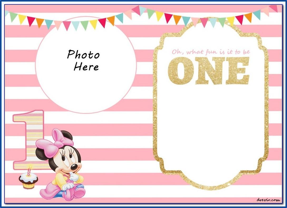 Minnie Mouse Birthday Invitations Free
