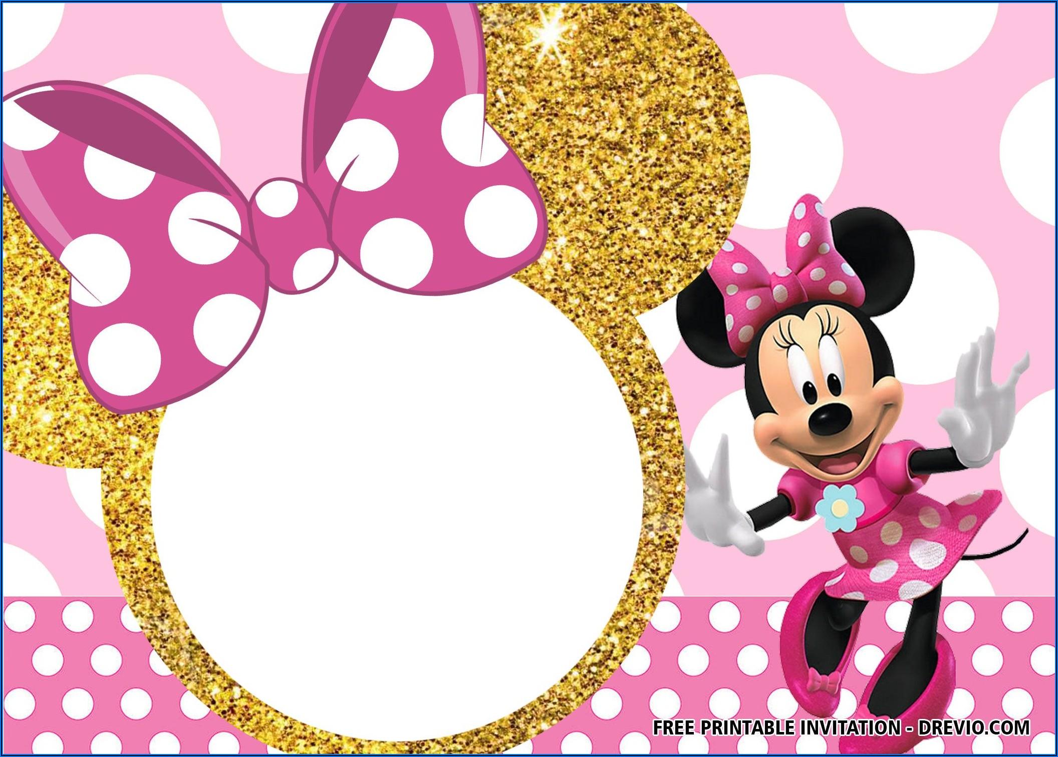 Minnie Mouse Birthday Invitations Templates Free