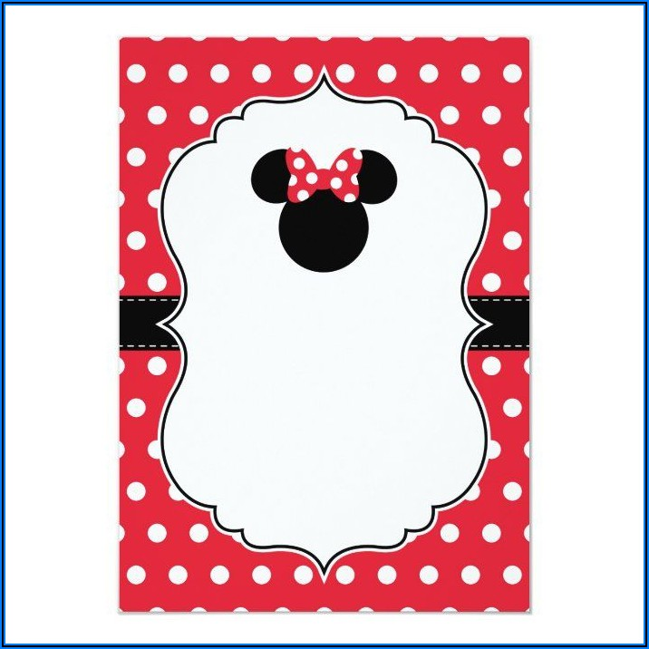 Minnie Mouse Birthday Invitations Zazzle