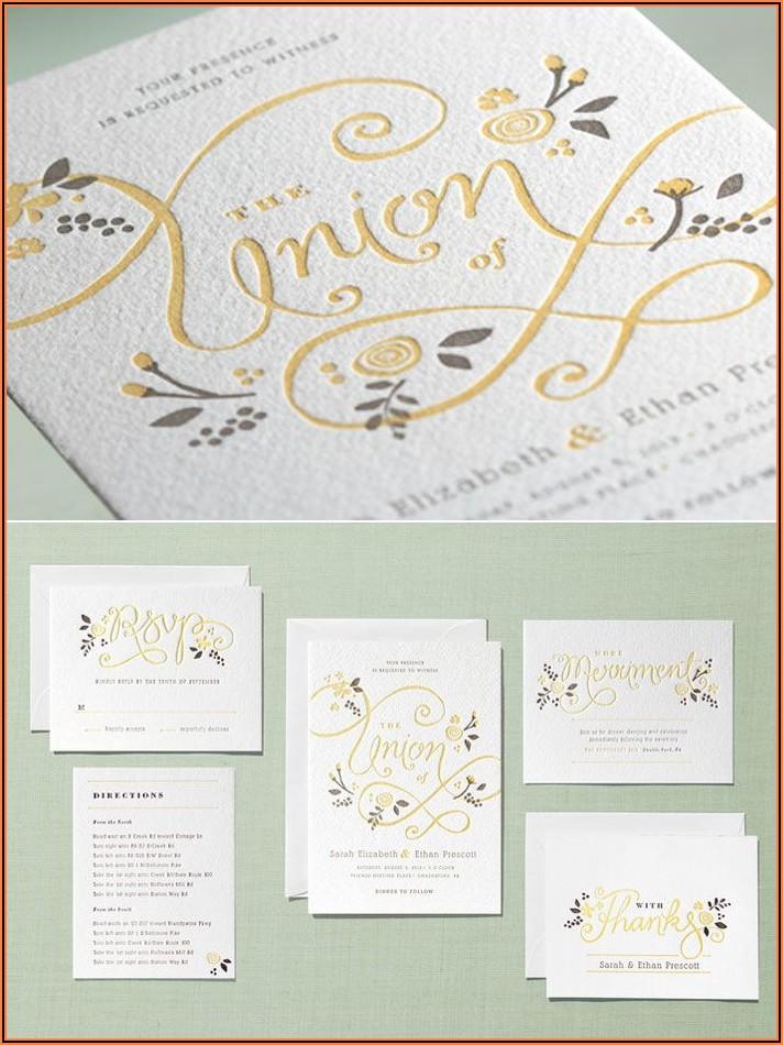 Minted Wedding Invitations Letterpress