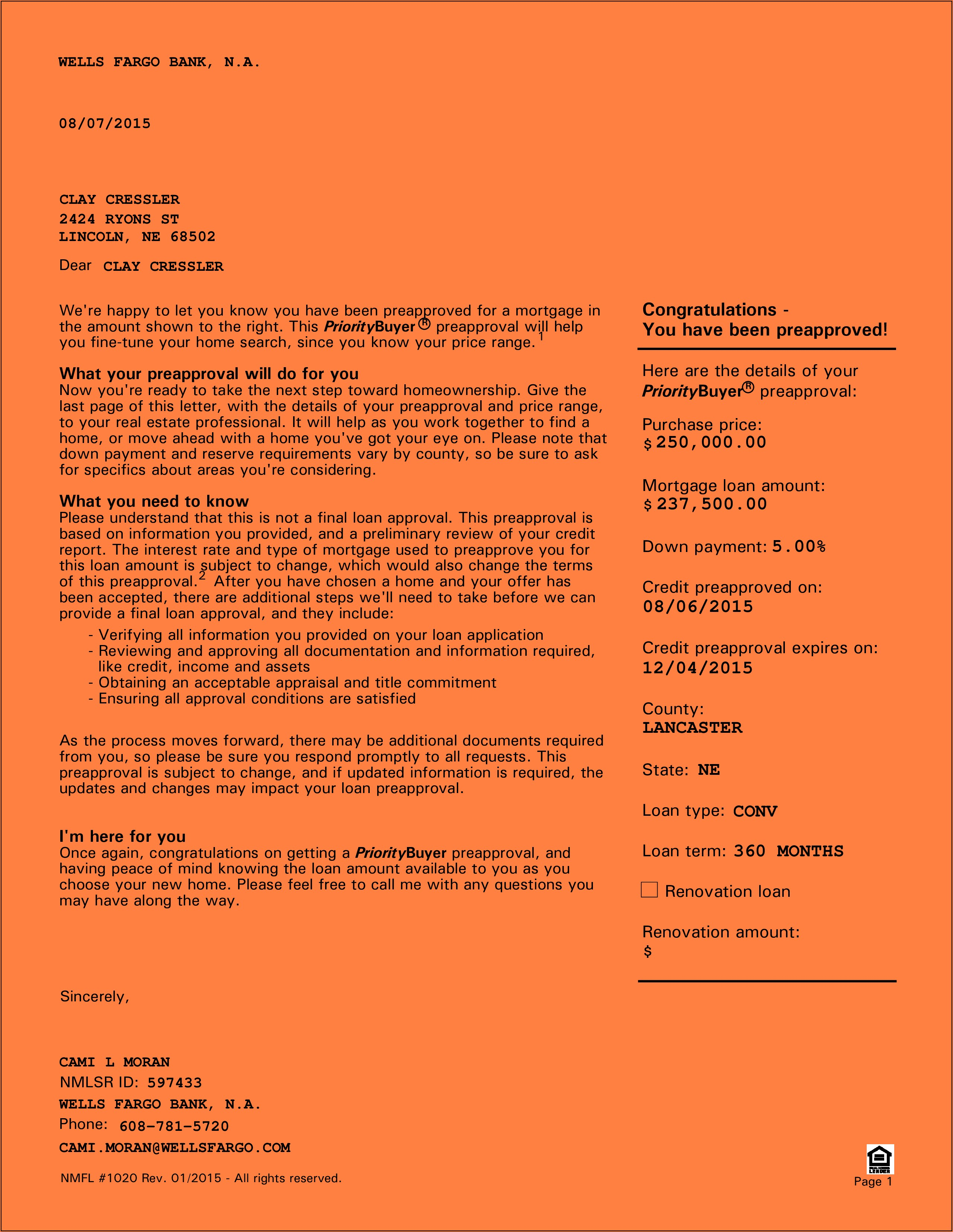 Mortgage Pre Qualification Form Template