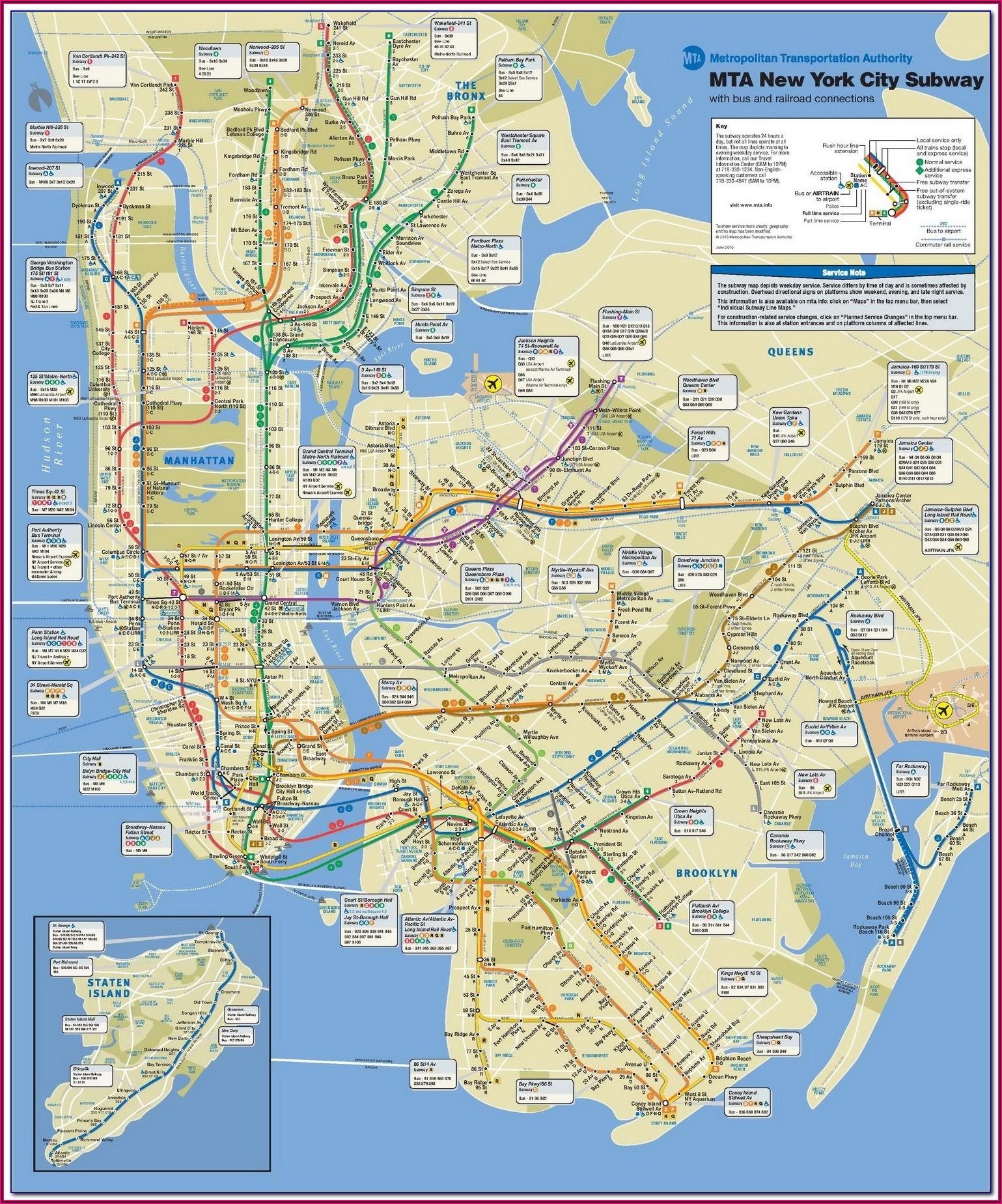 Mta Map New York City Subway