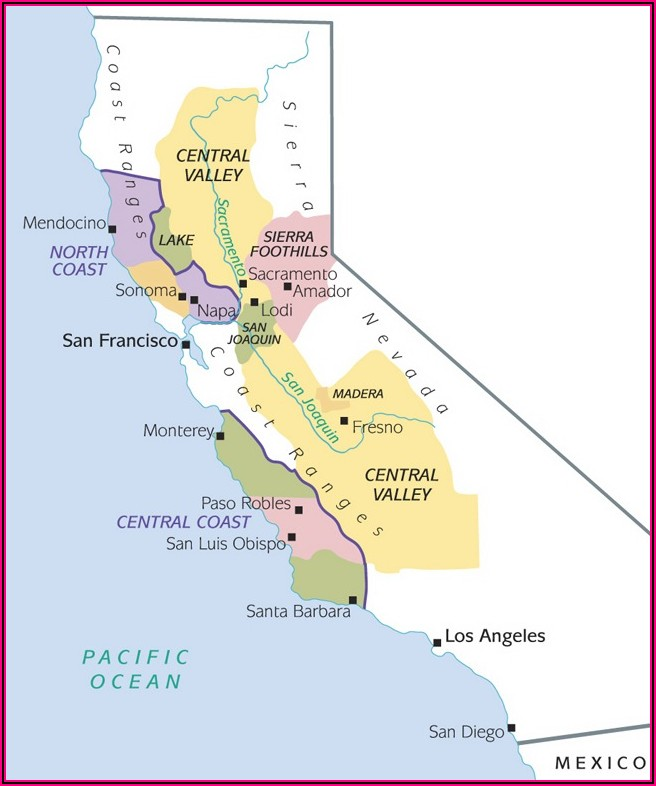 Napa Valley Vintners Association Map