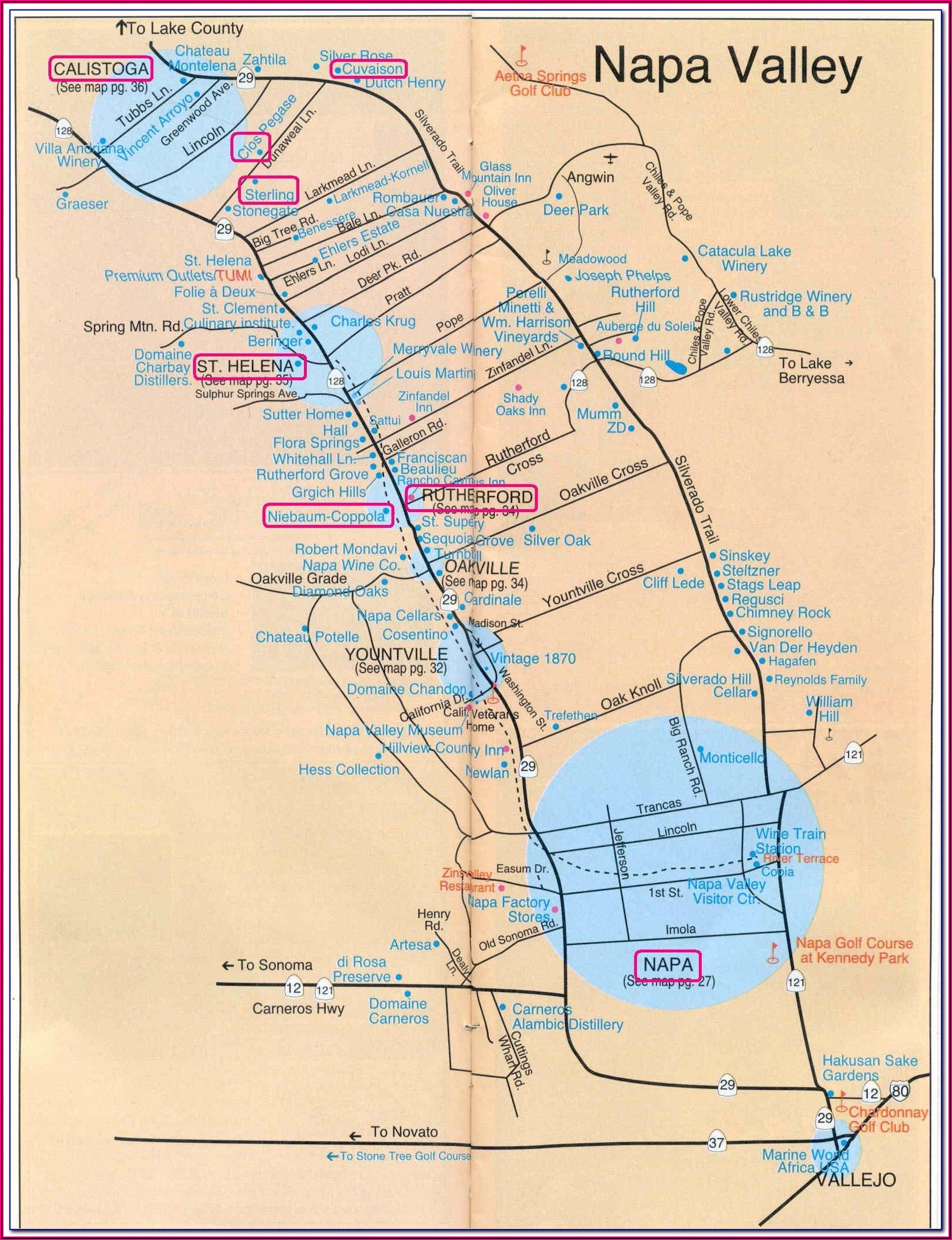 Napa Valley Vintners Topo Map