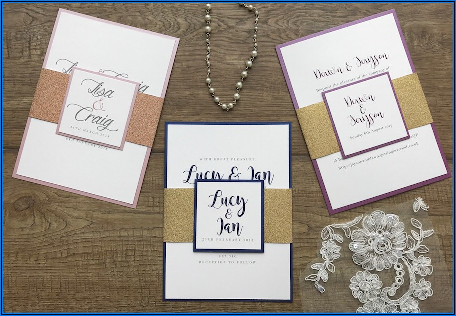 Navy And Rose Gold Wedding Invitations Uk