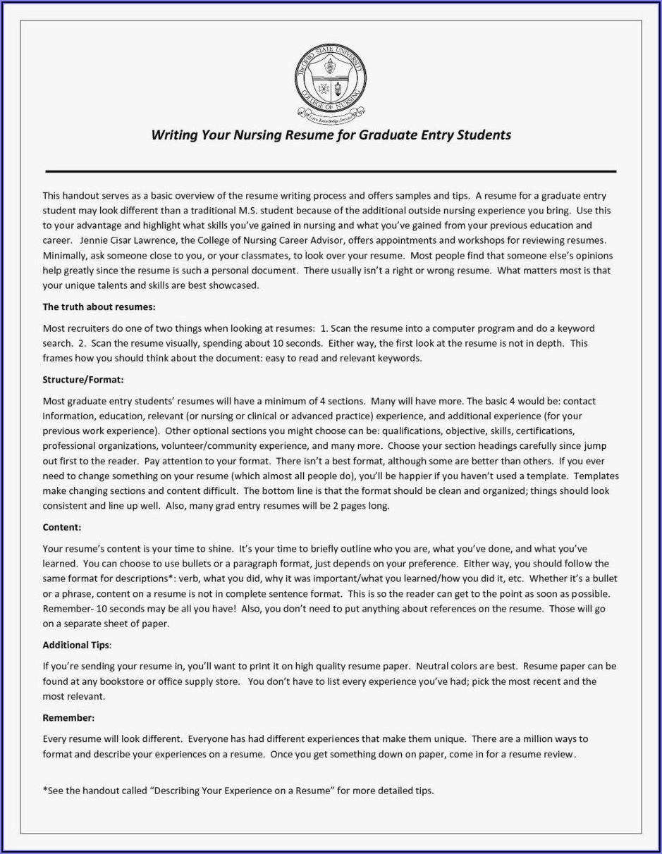 New Grad Nurse Resume Templates