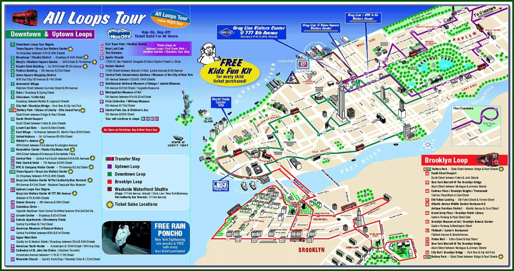 New York Sightseeing Map Pdf