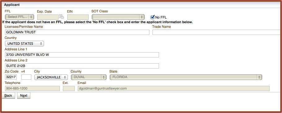 Nfa Gun Trust Forms