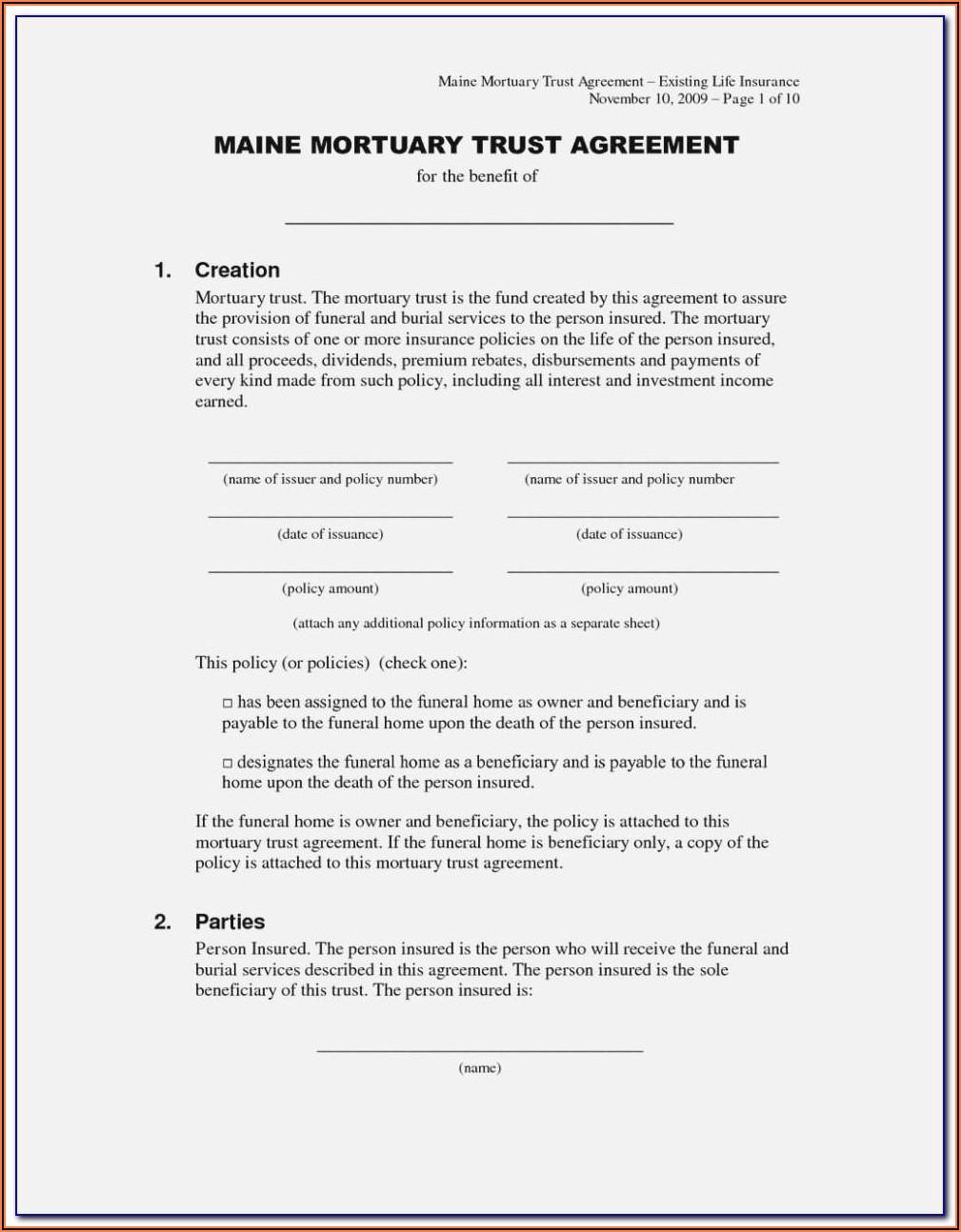 Nfa Trust Template