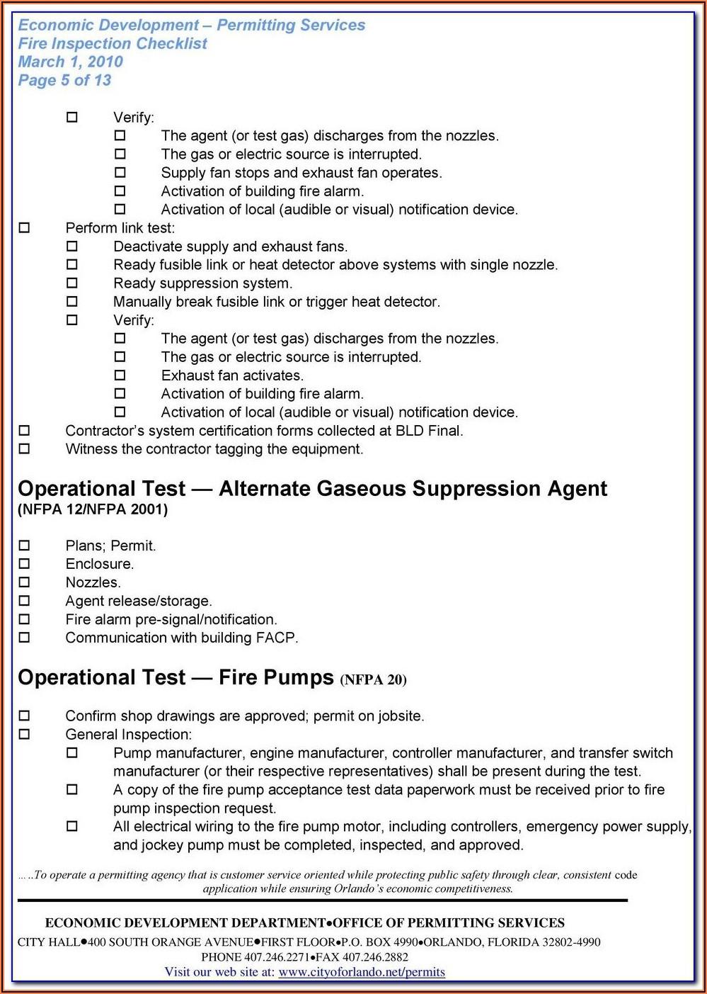Nfpa 80 Fire Door Inspection Form