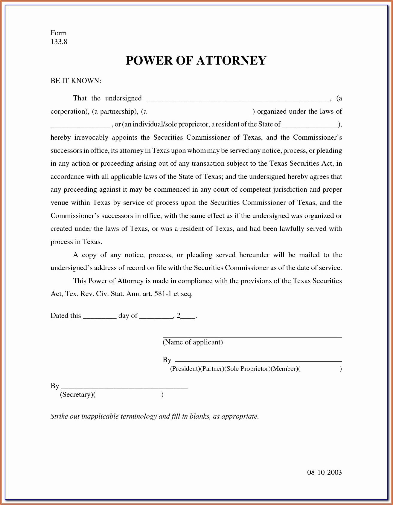 North Carolina Durable Power Of Attorney Form 2020