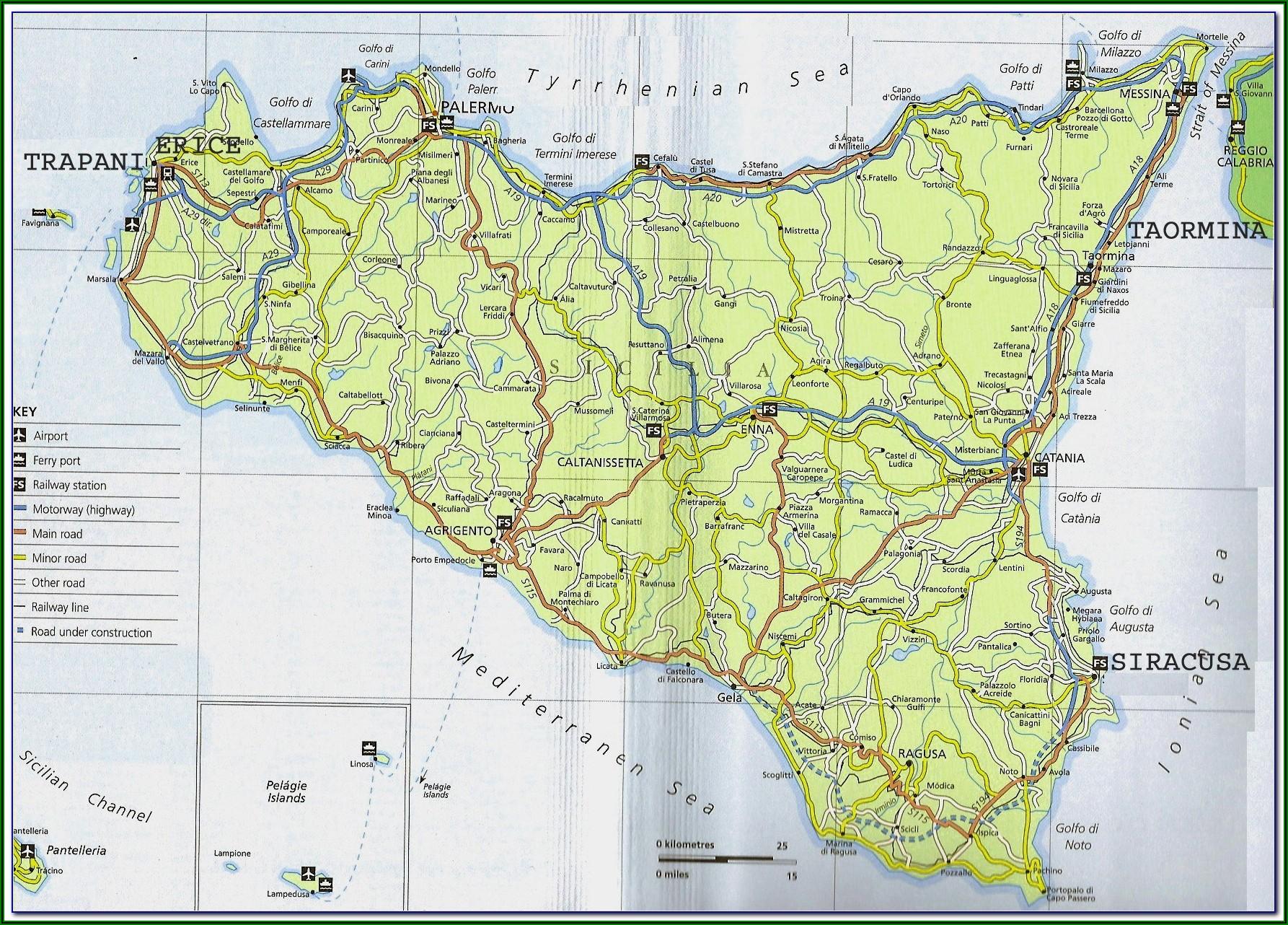 Noto Sicily Tourist Map