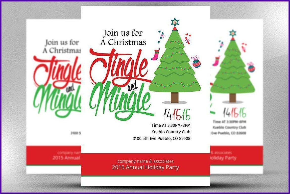Office Christmas Party Flyer Templates Free