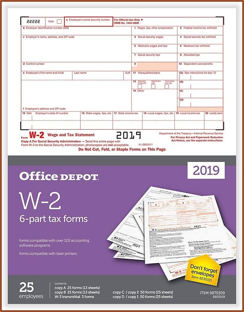Office Depot 1096 Tax Forms