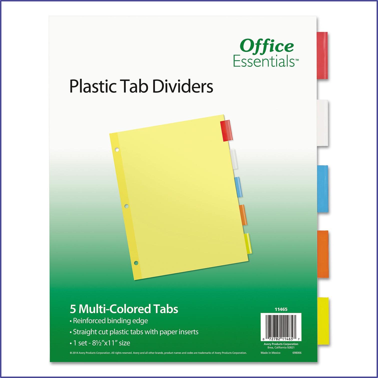 Office Depot Index Divider Templates