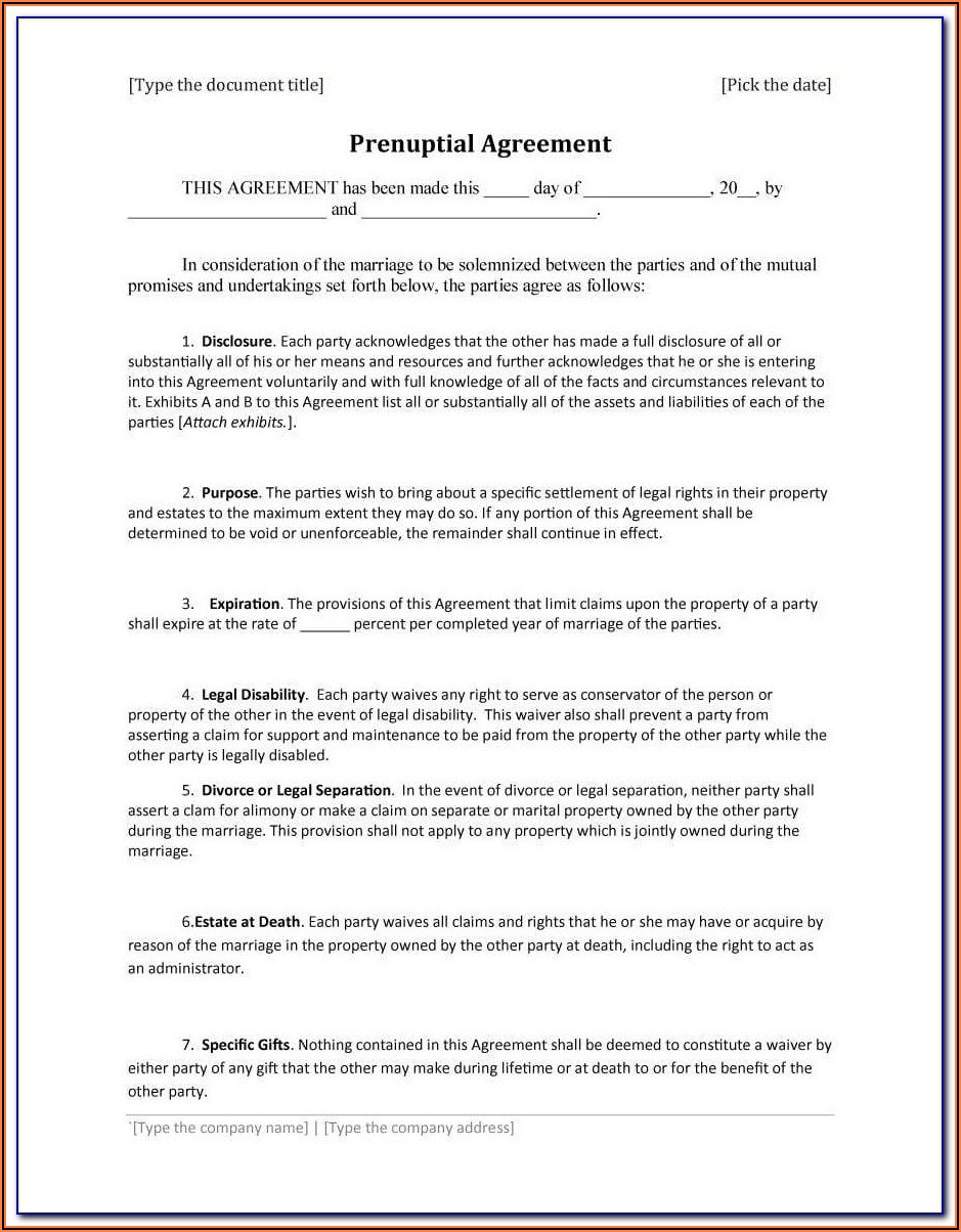 Oklahoma Prenuptial Agreement Form