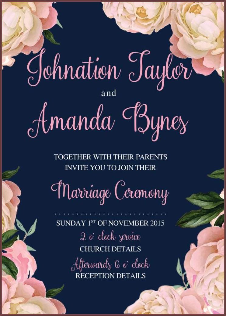 Online Wedding Invitation Templates Free