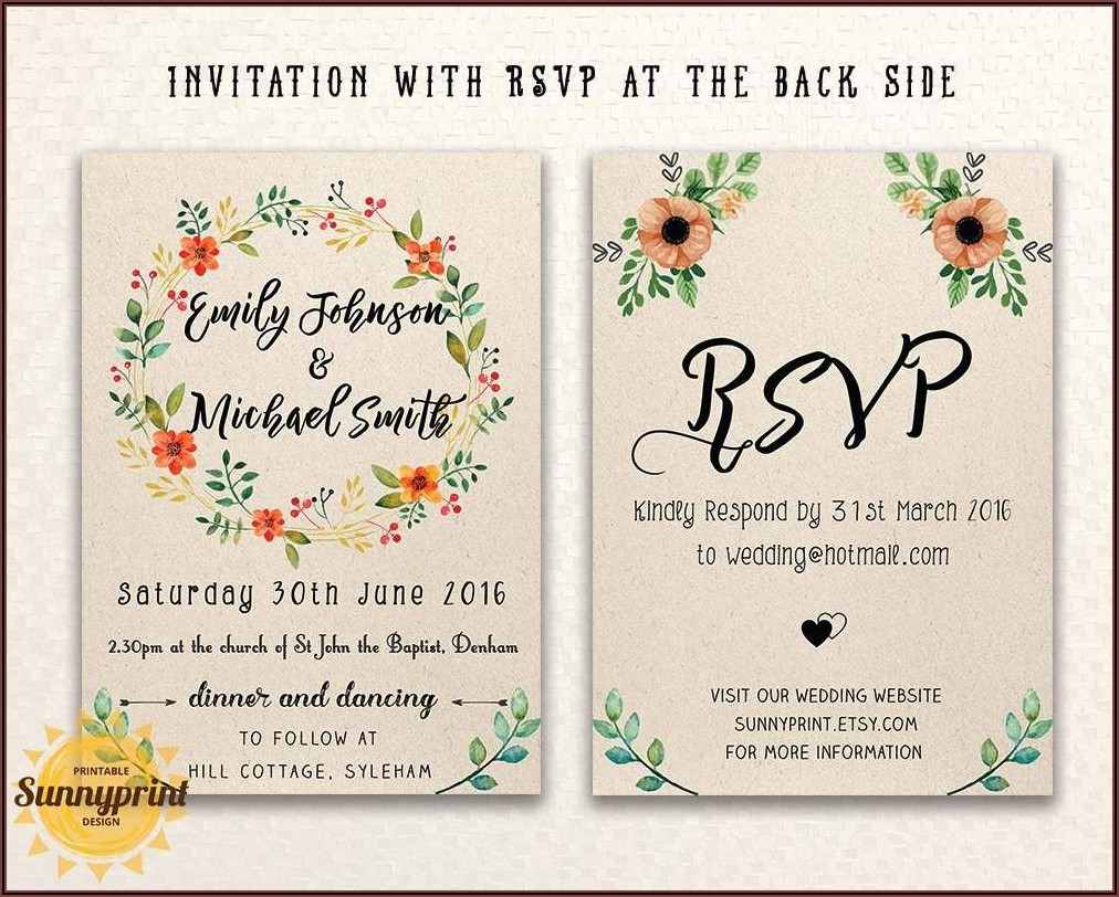 Online Wedding Invitation Templates With Photo
