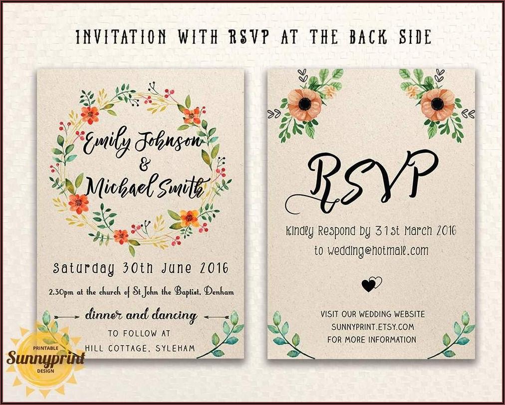 Online Wedding Invitation Templates With Photo