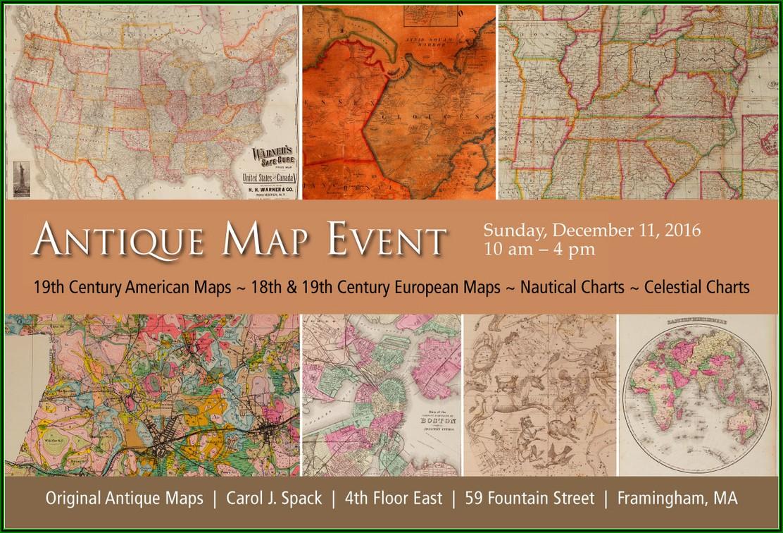 Original Antique Maps By Carol J. Spack