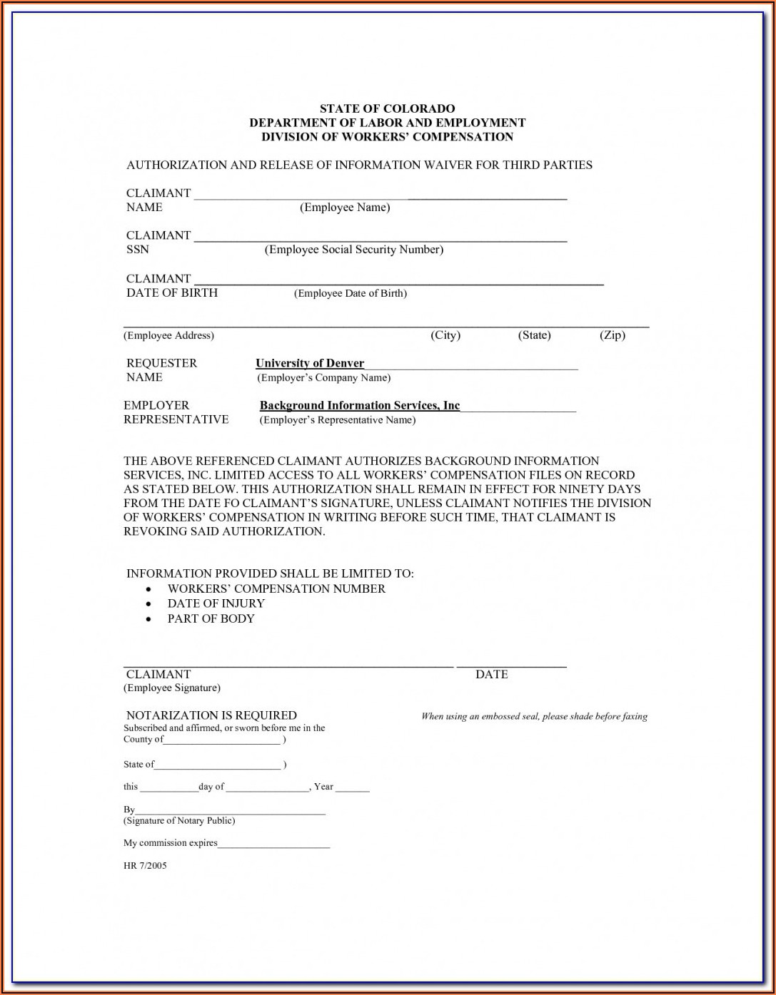 Osha Workers Comp Forms